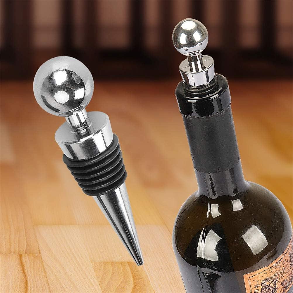 Wiederverwendbare Vakuum Weinflasche Stopper Halte Frische Dichtungsstecker f/ür Wein und Getr/änkeflasche,3PCS Wein Stopfen Sektflaschenverschluss Edelstahl Sektflaschenverschlu/ß Sektverschluss