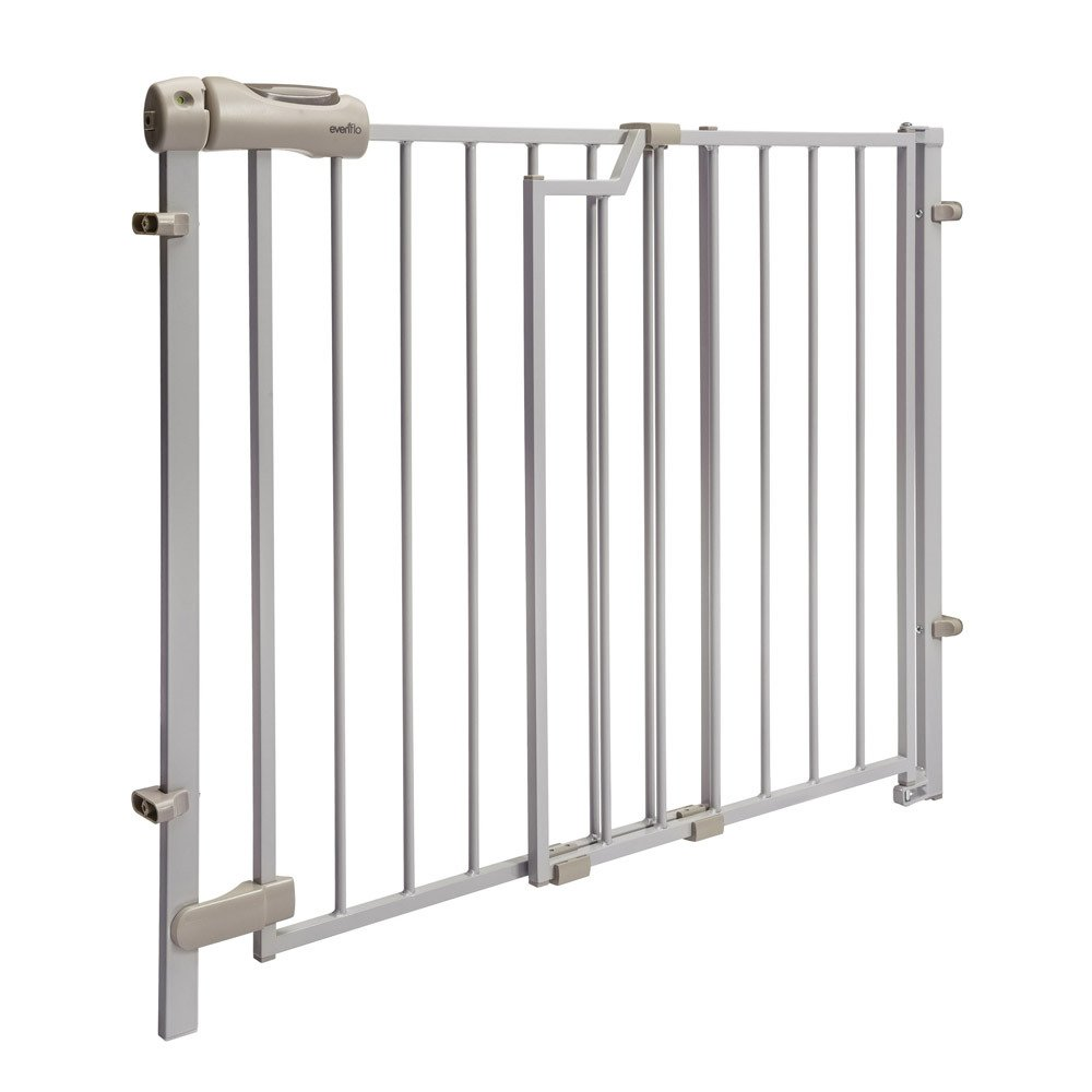 3. Evenflo Easy Walk-Thru Top Of Stairs Gate