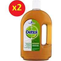 1.5L Dettol Antiseptic Liquid Disinfectant First Aid Original (2x750mL)
