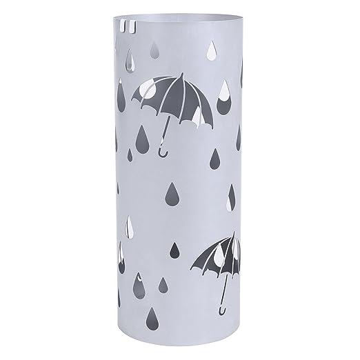 Amazon.com: SONGMICS Metal Umbrella Stand Silver Gray Umbrella ...