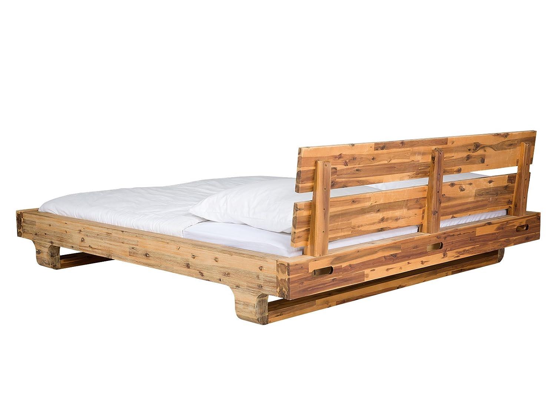 Populære massivum Doppel-Bett Madras 180x200 cm aus massiven Akazien-Holz HT-17