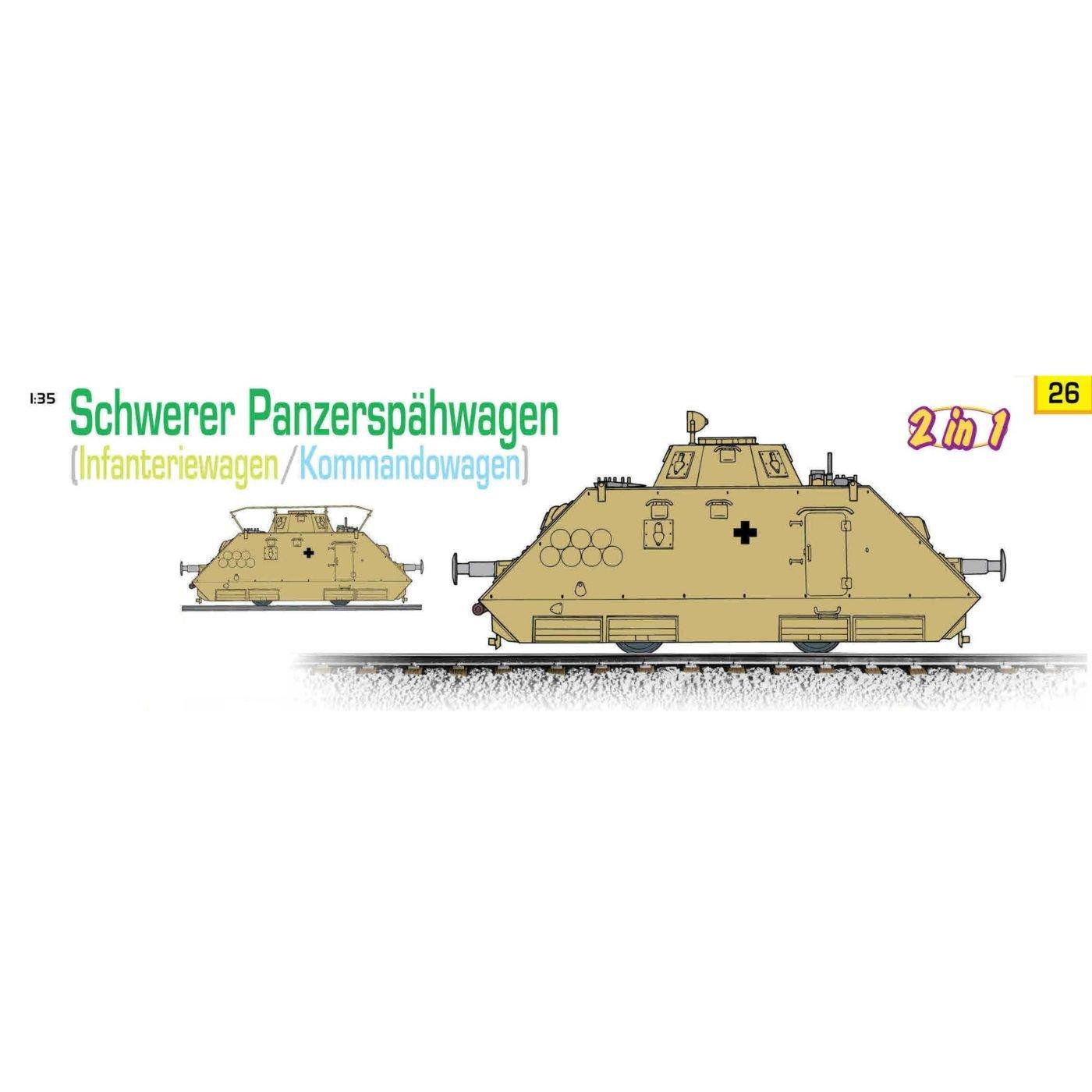 Cyber Hobby 1/35 Schwerer PanzerspÃcurren;hwagen Kommandowagen/Infanteriewagen (2 in 1) + Armored Reconnaissance Figure Set