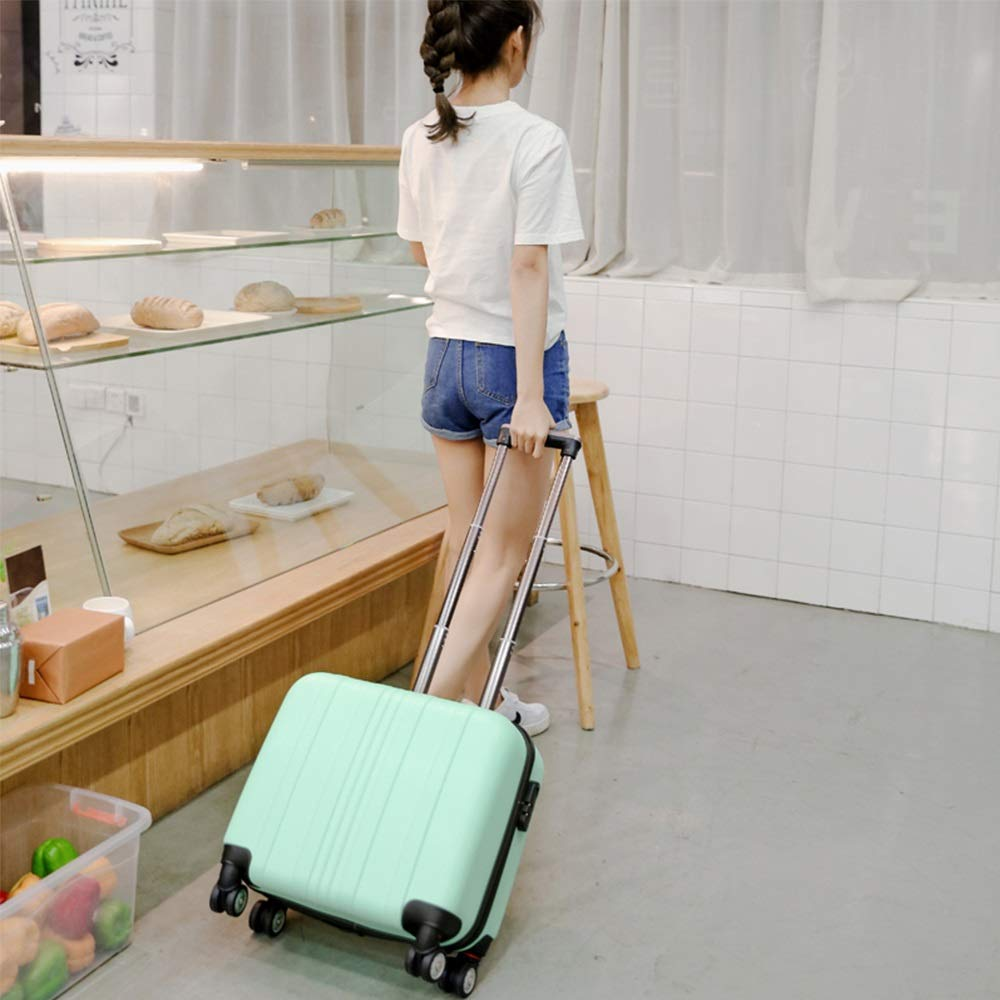 Silent Universal Wheel Mei Xu Luggage Sets Trolley Case ABS Box Surface Aluminum Alloy Lever Suitable for Short-Distance Business Travel Mini Boarding Case 3 Colors Available Travel Essential