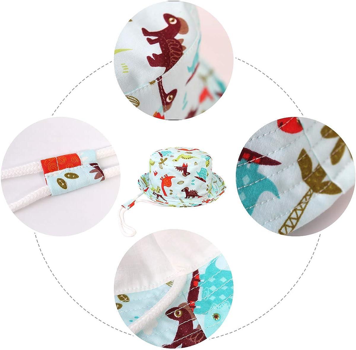 Tauchen Pattern Happy Cherry Baby Baumwolle Sonnenhut Jungen M/ädchen Bucket Hut Sonnenschutz Fischerhut M/ütze