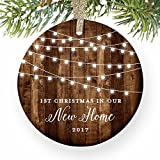 Housewarming Gifts 2017, Dated 1st Christmas In Our New House Ornament New Home Rustic Xmas Farmhouse Collectible Homeowner Present from Realtor 3
