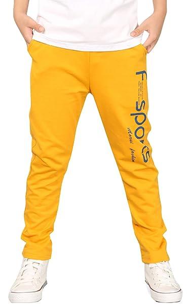 FEOYA - Pantalones Largos Deportivos para Niños de Algodón ...