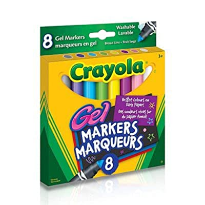Crayola : 8 Gel Markers (Bilingual): Toys & Games