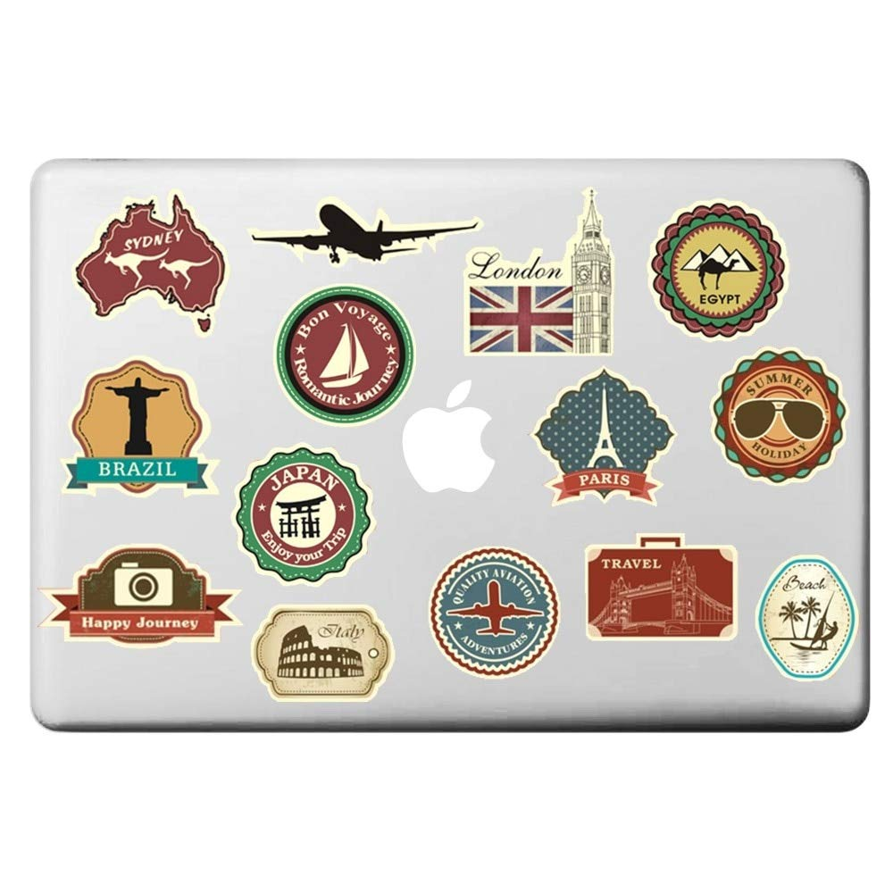 VT BigHome Vintage Travel Theme Laptop Sticker for MacBook Decal Pro Air Retina 11'' 13'' 15'' inch Mac Cover Skin HP On Notebook Sticker