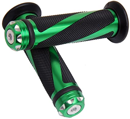 Amazoncom Green Motorcycle 78 22mm Handle Bar Grips With End For