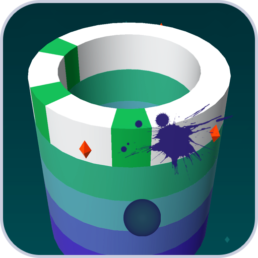 Splash Paint It Free - Paint a Tower with The Paint Ball - Addictive Games