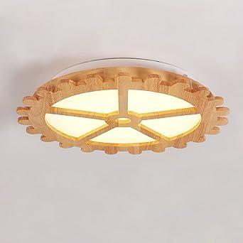 Perfekt LED 32W Decken Runde Zahnräder Deckenleuchte Modern Holz Design Acryl  Lampenschirm Deckenlampe Kreative Dekoration Innen Beleuchtung