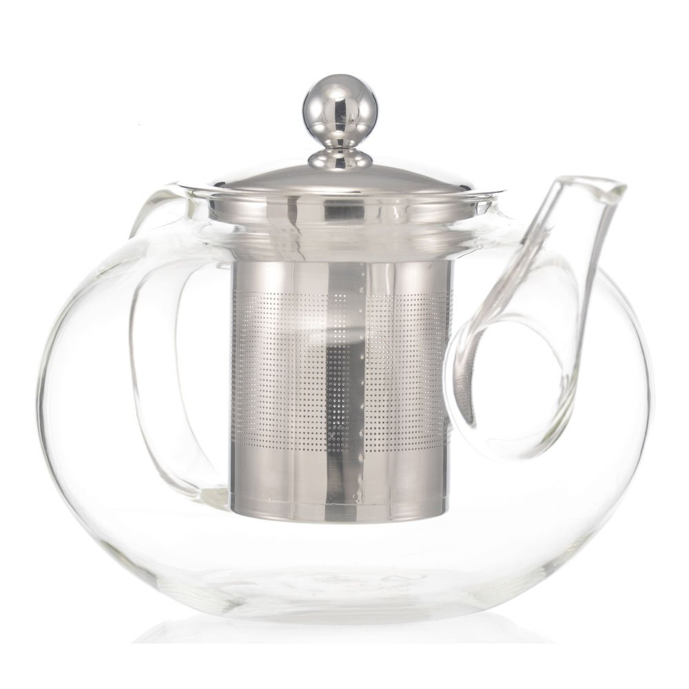 GROSCHE Joliette Hand Blown Glass Teapot with Removable Stainless Steel Infuser