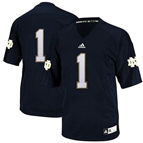 low priced 63e41 5bf2a Notre Dame Fighting Irish Adidas # 1 Youth Football Jersey