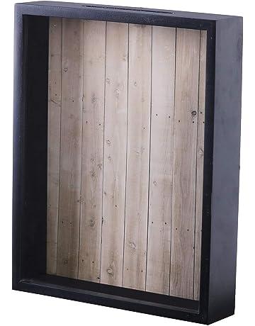 2f069ec1e09e Shadow Box Display Case – Top Loading Black Wood Frame - Showcase Bottle  Caps