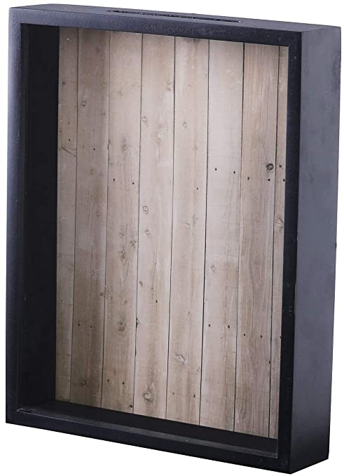Amazoncom Shadow Box Display Case Top Loading Black Wood Frame