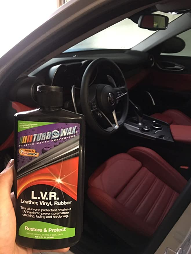 Amazon.com: Turbo Wax Leather, Vinyl and Rubber Protectant with Polycharger 16oz Bottle, Prevents Cracking and Fading: Automotive