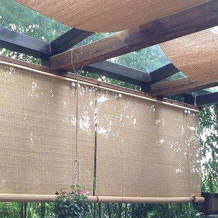 FF Estores enrollables Sombrilla Exterior Enrollable, Persianas Enrollables Exteriores para Terraza Gazebo Pergola Porch, Fácil De Arreglar, Carbonizado, 80/100/120/140 Cm De Ancho (Size : 80×160cm): Amazon.es: Hogar