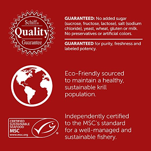 Omega-3 Fish Oil 500mg - Megared Extra Strength 90 softgels - Krill Oil No fishy aftertaste by Megared (Image #7)