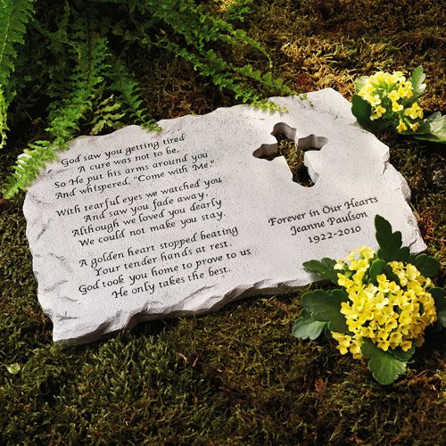 Personalized Cross Memorial Stone ()