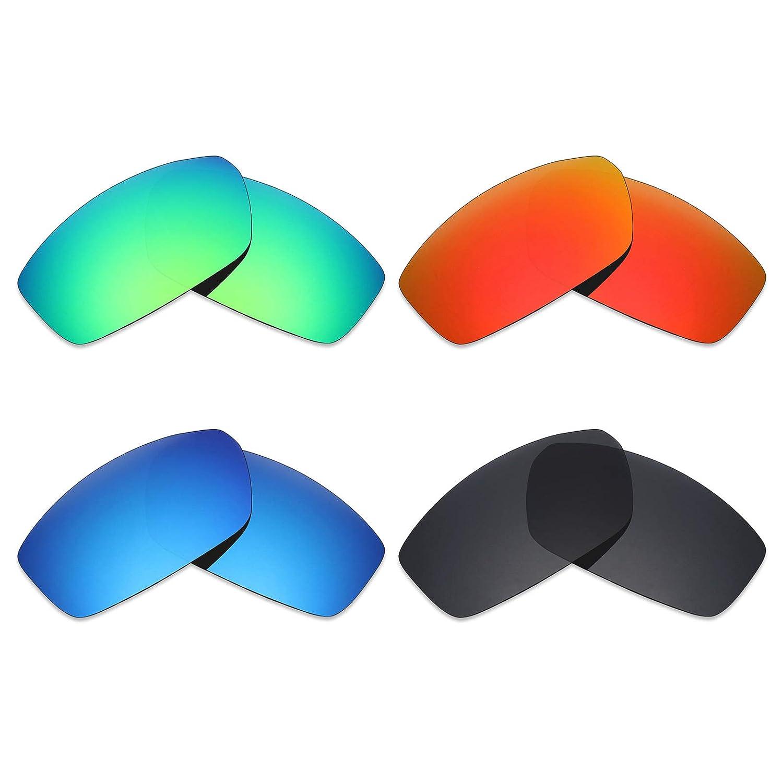 2f864be610 mryok 4 pares polarizadas lentes de repuesto para Spy Optic Dirty Mo -  anteojos de sol, Stealth negro/rojo fuego/azul hielo/verde esmeralda:  Amazon.com.mx: ...