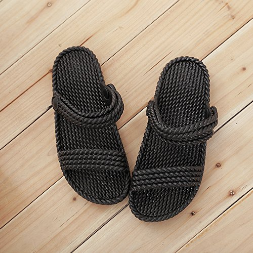 GTVERNH-Meine Damen Strand Hausschuhe Hausschuhe Hausschuhe Komfort Flache Hintern Hausschuhe Frauen Doubles Ziehen Skidproof Bad Pantoffeln 722089