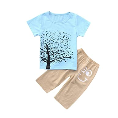 f165594057fc Amazon.com  Pollyhb Baby Boy Girl Clothes Set