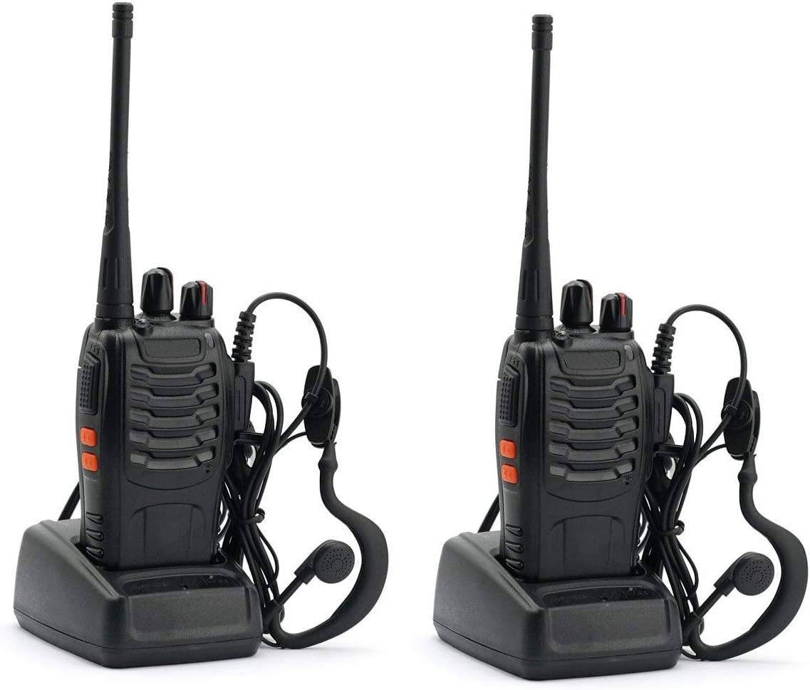 Mengshen Baofeng Walkie Talkie BF-888S 2 Pack, Two Way Radio Long Range UHF FM Transceiver CTCSS DCS Portable Ham Radio Pocket Handheld Amateur Radio with Earphone
