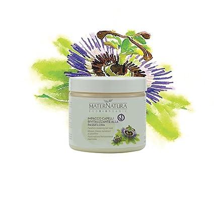 MATERNATURA - Impacco Capelli Rivitalizzante alla Passiflora - Maschera per  riparare la fibra capillare e rivitalizzare i capelli - Nickel Tested a3d6a26b7bd5