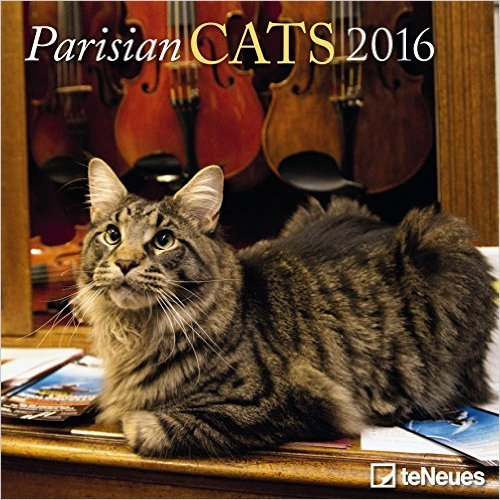2016 Paris & Cats Mini Wall Calendar