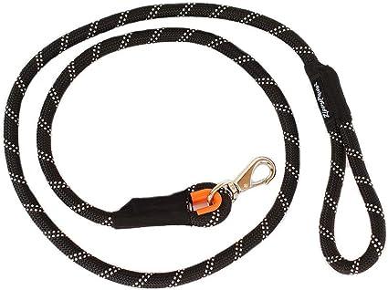 Amazon.com : ZippyPaws - Climbers Dog Leash - Tough Climbing Rope Dog Leash  - 2/3 Inch Thick - Black, 6-Feet : Pet Leashes : Pet Supplies