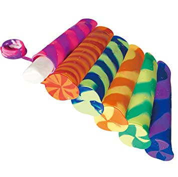 threecat diversión y vibrantes colores silicona para alimentos bolsas de aperitivos o Ice Pop Maker modelos/Popsicle Moldes: Amazon.es: Hogar