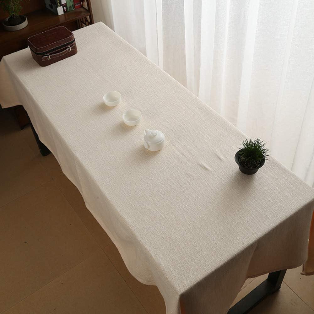 Mantel De Algodón Y Lino Tejido Zen Mantel De Lino De Té Engrosamiento De Tela Rectangular De Tela China Mantel Bandera De Mesa,130 * 160cm-beige: Amazon.es: Hogar