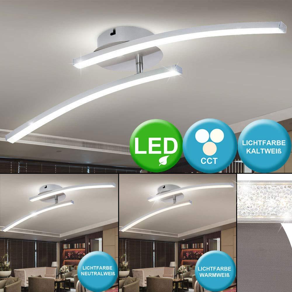 LED Decken Lampe Wohn Zimmer CCT Leuchte gebogen Tages-Licht Kristall Strahler