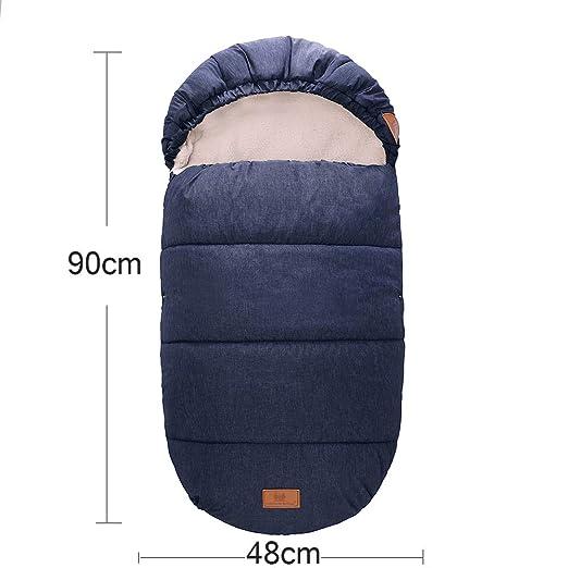 Baby Fußsack Babyschale Schlafsack Winterfußsack Kinderwagen Buggy Winter 90x48cm Blau Baby
