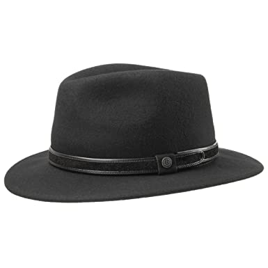 00dbe36c342c6c bugatti Feather Traveller Hat rain hat Felt hat (61 cm - Black):  Amazon.co.uk: Clothing