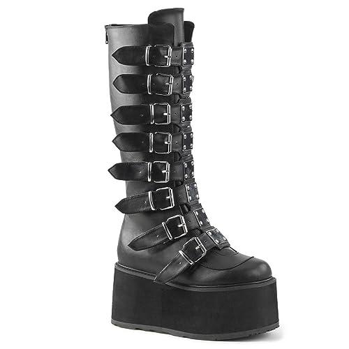 d93c52e36da Demonia Women's Damned-318 Knee High Boot