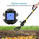 GLOGLOW Metal Detector, Deep Underground High Accuracy Sensitive Advanced Discriminating Adjustable Metal Detectors All-Round Treasure Seeker with LCD Display for Gold Digger Coin Hunter