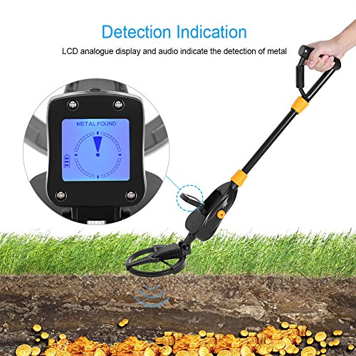 GLOGLOW Metal Detector, Deep Underground High Accuracy Sensitive Advanced Discriminating Adjustable Metal Detectors All-Round Treasure Seeker with LCD Display for Gold Digger Coin Hunter by GLOGLOW