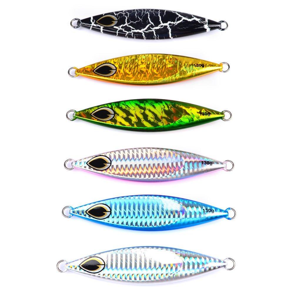 New 6pcs Lot Jigging Lead Fish 130G//11CM Metal Jigs Fishing Lures Metal Sea Bait