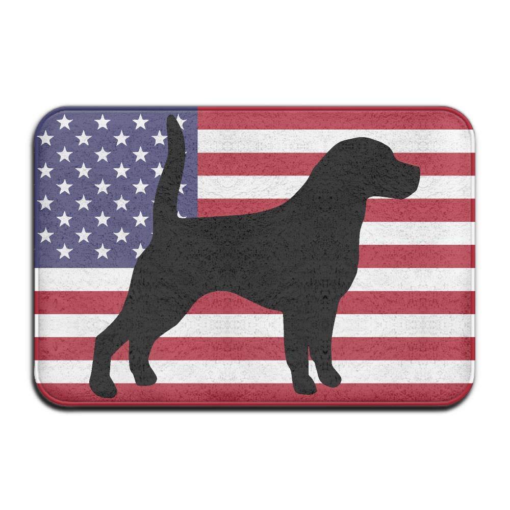Beagle USA Flag Indoor Outdoor Entrance Rug Non Slip Car Floor Mats Doormat Rugs for Home