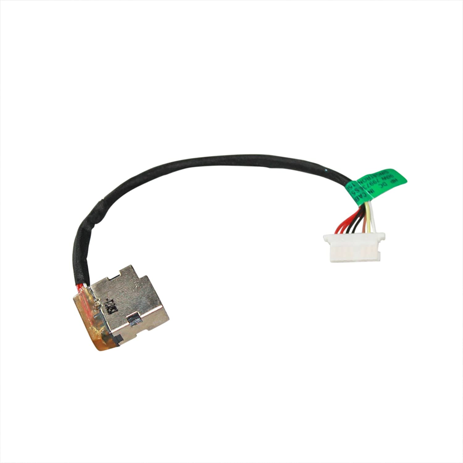 GinTai DC Power Jack in Cable Harness Replacement for HP Pavilion 15-AF131DX 799736-T57