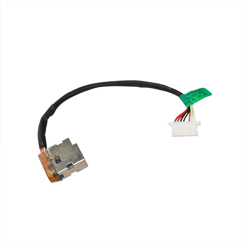 GinTai DC Power Jack Charging Port Cable Replacement for HP 799736-Y57 799736-S57 15-AC163NR 15-AC 15-AC107na 15-AY038ca 15-AY039wm 15-AY041nr 15-AY041wm 15-AY195nr G4 240 250 255 G4 G5 CBL00672-0100