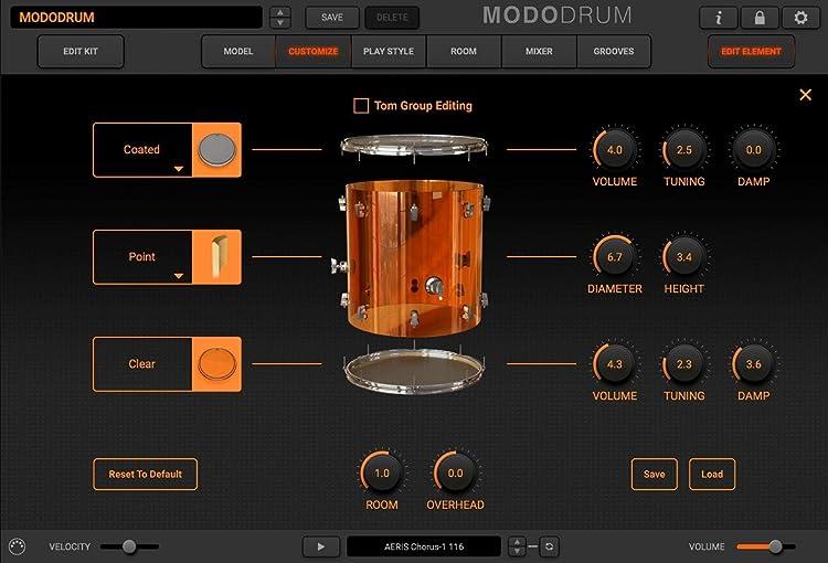 MODO Drum:タム・カスタマイズ