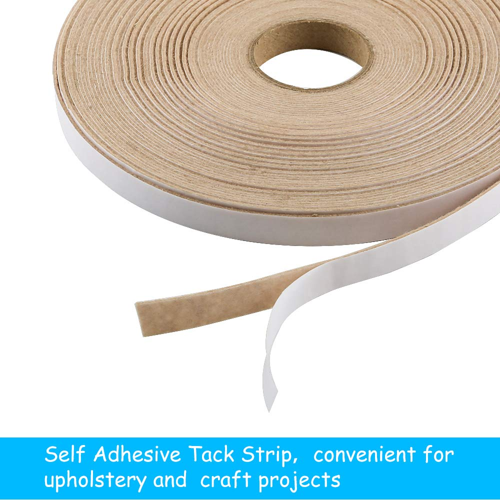 Natural Caydo Self Adhesive Upholstery Tack Strip 22 Yards by 1//2 Chip Strip