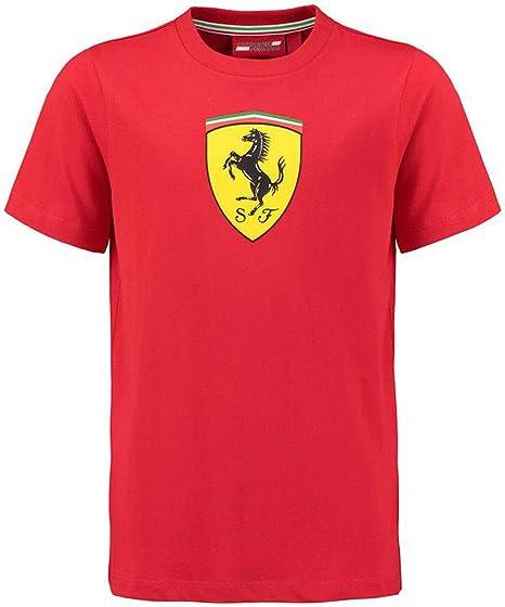 Ferrari Scuderia 2018 - Camiseta clásica para niños, Color Rojo: Amazon.es: Ropa y accesorios