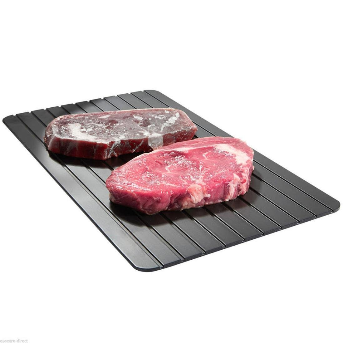 Hohaski Fast Defrosting Tray for Frozen Food- The Safest Way to Defrost Meat or Frozen Food Quickly- without Electricity Microwave Hot Water or Any Other Tools