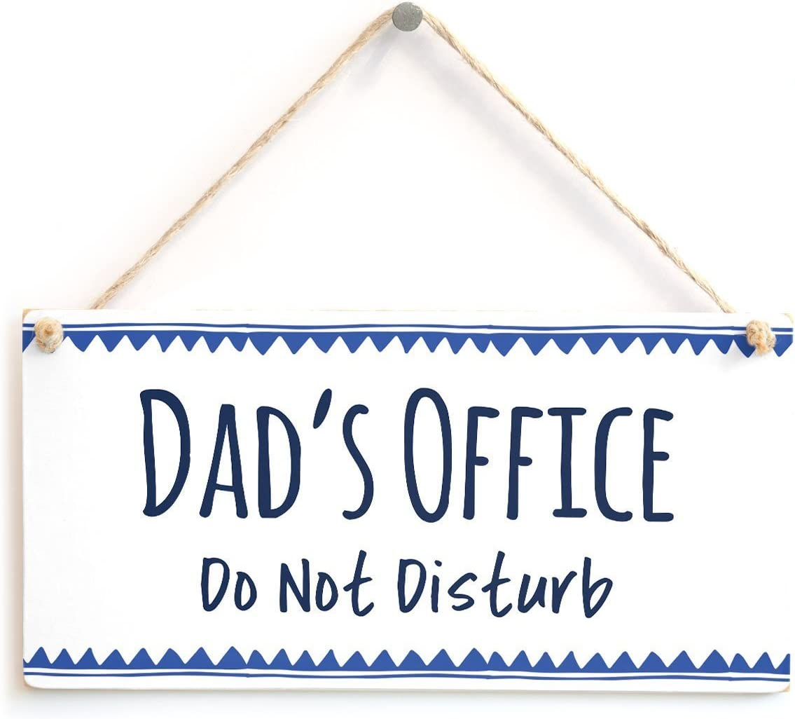 "Meijiafei Dad's Office Do Not Disturb - Great Small Gift Idea for Your Dad 10"" X 5"""