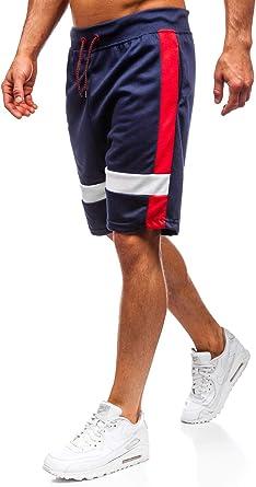 BOLF Hombre Pantalón Corto Pantalón de Chándal Pantalón de ...
