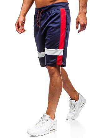 BOLF Hombre Pantalón Corto Pantalón de Chándal Pantalón de Algodón ...