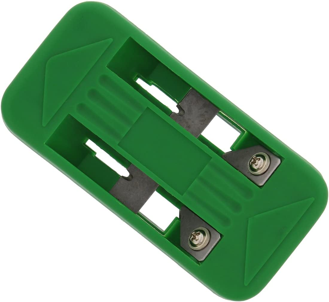 DCT Wood Veneer Double Edge Banding Trimmer 1//2 to 1in Spring-Loaded 6 Blade Band Trimming Tool for Plywood Edges